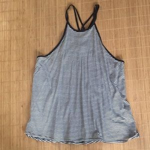 Hollister black and white tank top Medium